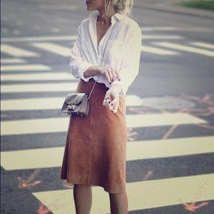 Loft Leather Skirt